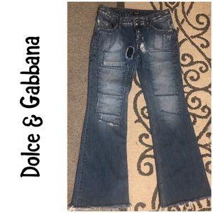 Dolce & Gabbana Hotty Flare raw hem jeans